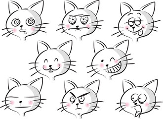cartoon cat's face © wenpei