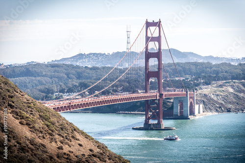 Fotobehang San Francisco Golden gate bridge in San francisco and landscape