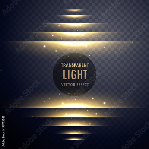 glowing light effect steps with sparkles
