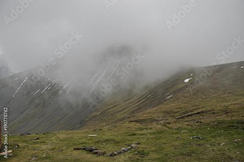 Fotobehang Bleke violet Mountain