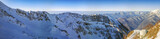 Winter panorama of a...