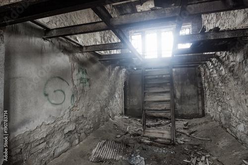Foto op Canvas Oude verlaten gebouwen Abandoned