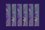 Ultra Violet Hintergrund Design mit Linien und Wirbeln - 190784765