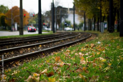 Papiers peints Voies ferrées Straßenbahn Schienen