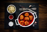 Roasted meatballs and vegetables - 190787190
