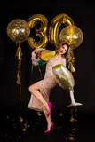 beautiful girl celebrates thirtieth anniversary - 190788986