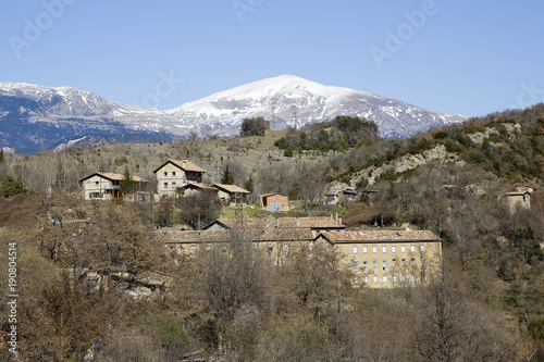 Foto op Plexiglas Blauwe hemel Pyrenees, Catalonia, Spain.