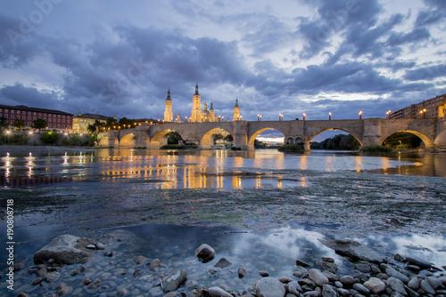 Zaragoza views from Ebro