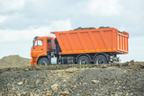 dumper on a motorway under construction - 190811734
