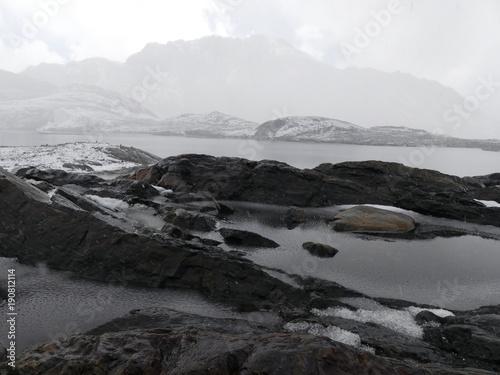 Foto op Canvas Grijze traf. Glacier de Pastoruri à Huaraz dans la Cordillère des Andes au Pérou