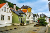 Traditional houses in the old town of Bergen, Norway. Bergen is the second largest city in Norway. - 190816713