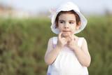 Portrait Of Happy Little Girl - 190822339