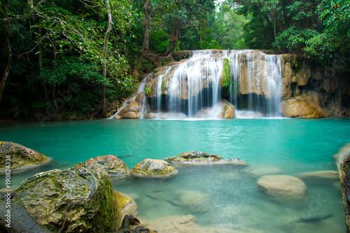 Erawan waterfall in Thailand National Park - 190824338