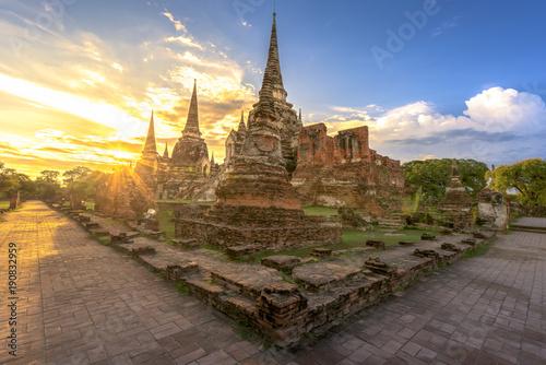 Fotobehang Thailand The old temple in Thailand, Phra Nakhon Si Ayutthaya, Thailand