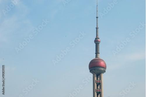 Papiers peints Shanghai Top of the Oriental Pearl TV Tower of Shanghai, China