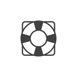 Life saver icon vector, filled flat sign, solid pictogram isolated on white. Lifebuoy, help symbol, logo illustration. - 190839507