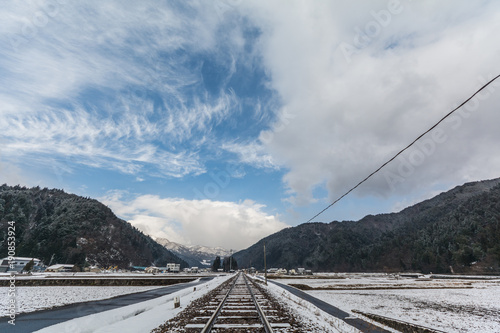 Fotobehang Spoorlijn レール