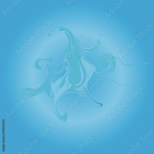 Flowing blue liquid. Abstract blue background.