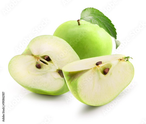 green apples isolated on a white background