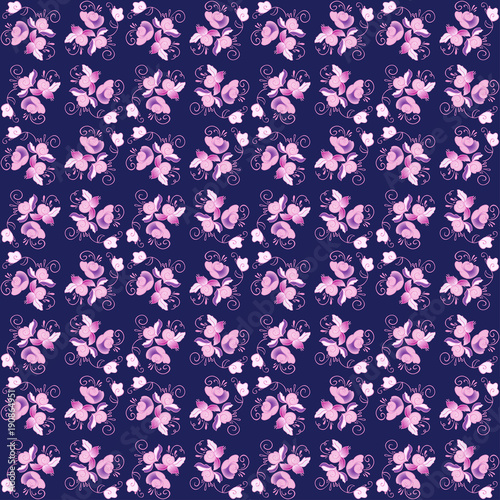 floral seamless vector pattern - 190864951