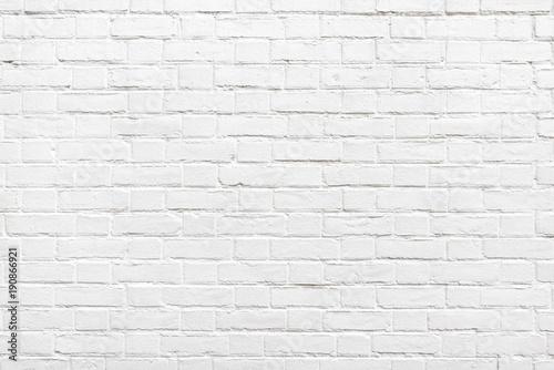 Fototapeta Detail of a white brick wall texture