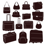 Travel bags and suitcases collection - 190872532