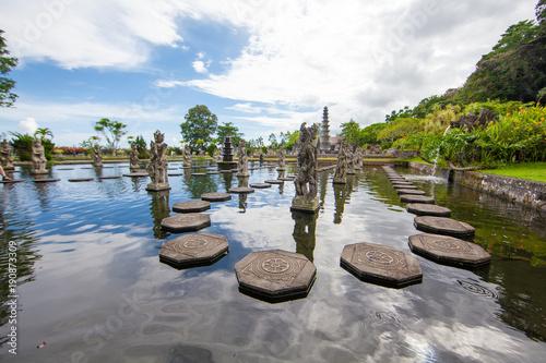 In de dag Bali Tirta Gangga water palace, Bali, Indonesia