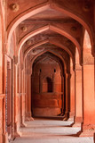 Interior elements of the Red Fort in Agra, India - 190873749