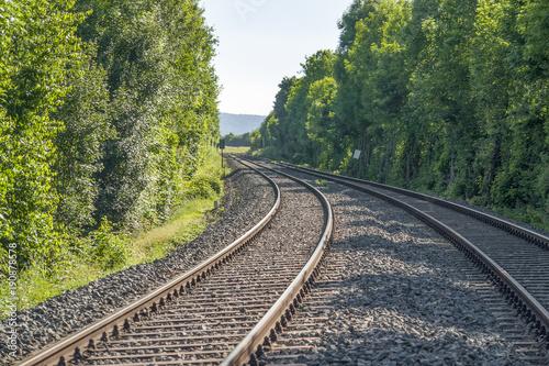 Papiers peints Voies ferrées railroad track