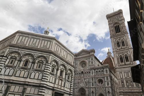 Staande foto Florence Баптистерий и Кафедральный собор во Флоренции