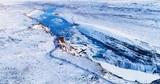 cascade en vue aérienne, Islande - 190897573