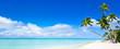 Sommer, Sonne, Strand und Meer als Panorama Hintergrund - 190900704