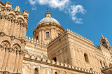 View of Palermo Cathedral church Dome, Sicily, southern Italy  - 190910998