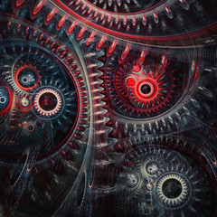 Abstract cogwheel steampunk background