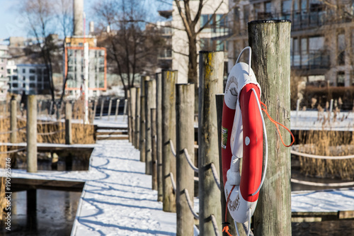 Foto op Canvas Stockholm Winter sjöstaden stockholm