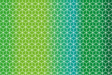 geometric pattern of rhombs on background in different shades of green - 190934105
