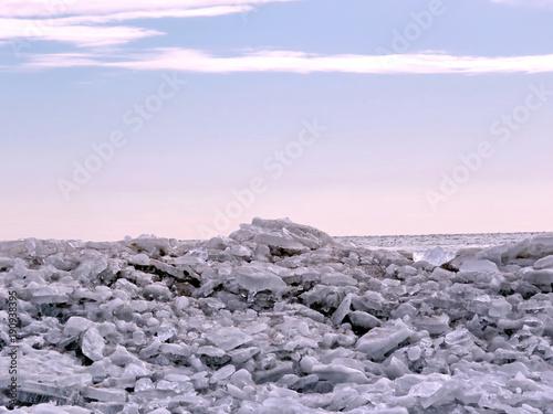 Foto op Plexiglas Toronto Toronto Lake the ice landscape 2018