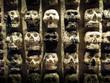 Wall of Skulls at Templo Mayor, Mexico