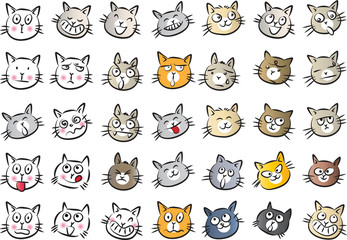 cats Expression package © wenpei