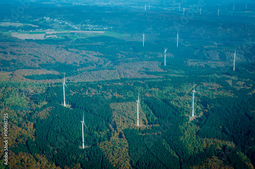 Tuinposter Blauwe jeans Aerial View - WInd Power