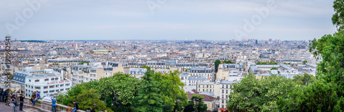 Panorama of Paris seen from Montmartre - 190962541