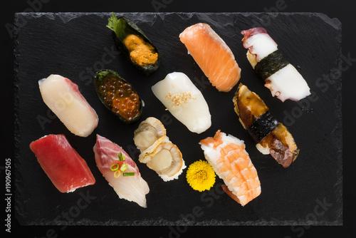 Foto op Plexiglas Sushi bar 寿司の盛り合わせ