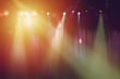 blurred lights on stage and red curtain theater for drama background