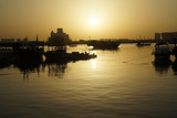 Dhows on Sea in tranquil morning on sea of Doha - 190979394