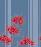 日本的な彼岸花の柄, - 190983918