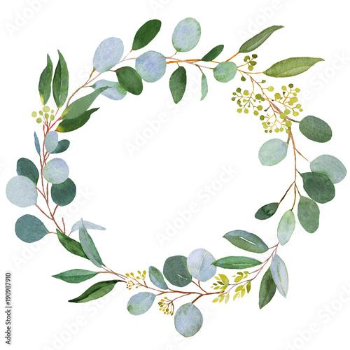slubny-wieniec-zieleni-akwarela-ilustracja-z-eukaliptusa