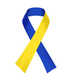 Blue and Yellow Ribbon. Down Syndrome Awareness Symbol - 190991796