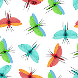 seamless pattern with dragonfly - 190993721