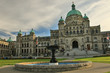 Beatiful building of Parliament palace in Victoria, Canada
