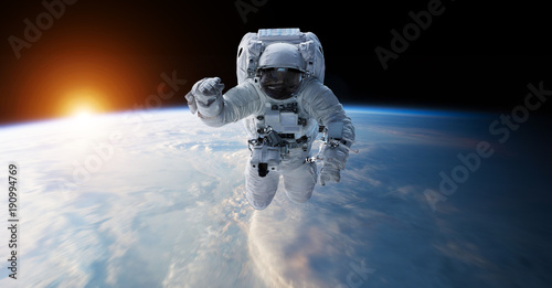 Deurstickers Nasa Astronaut floating in space 3D rendering elements of this image furnished by NASA